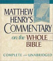 Matthew Henry's Commentary on the Whole Bible PDF