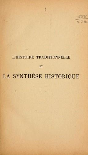 Download L' histoire traditionnelle et la synthèse historique