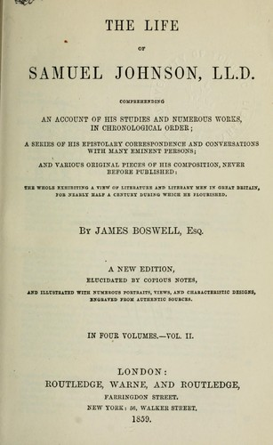 Download The life of Samuel Johnson, LL.D., comprehending an account of his studies and numerous works, in chronological order