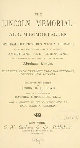 Download The Lincoln memorial: album-immortelles.