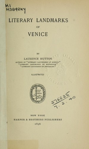Download Literary landmarks of Venice