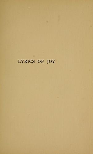 Lyrics of joy
