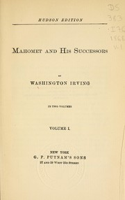 Cover of: Mahomet and his successors by Washington Irving