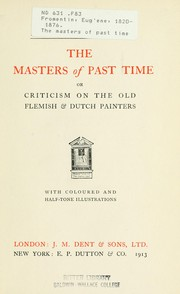 The masters of past time by Eugène Fromentin