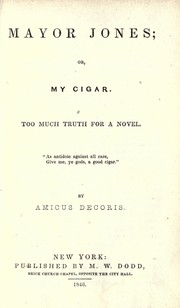 Mayor Jones; or, My cigar PDF