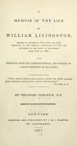 Download A memoir of the life of William Livingston