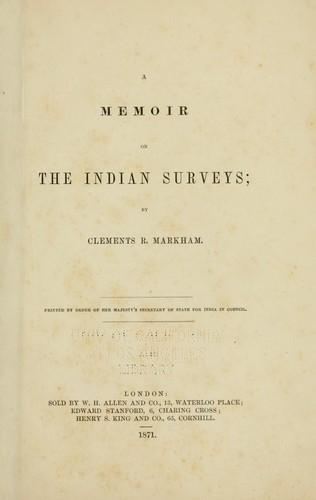 Download A memoir on the Indian surveys