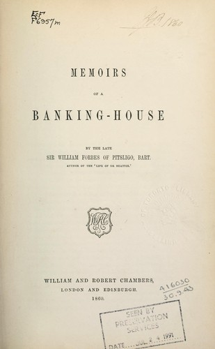 Download Memoirs of a banking-house.
