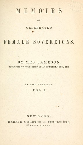 Memoirs of celebrated female sovereigns