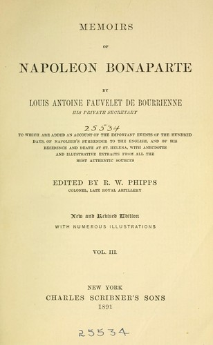Download Memoirs of Napoleon Bonaparte.