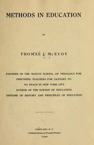 Download Methods in education