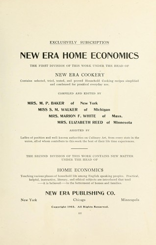 New era home economics by 