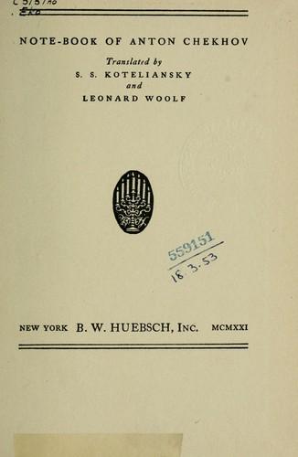 Download Note-book of Anton Chekhov.