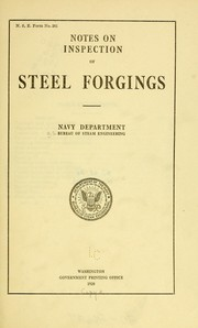 Notes on inspection of steel forgings PDF