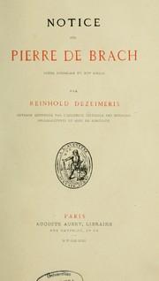 Notice sur Pierre de Brach, po PDF