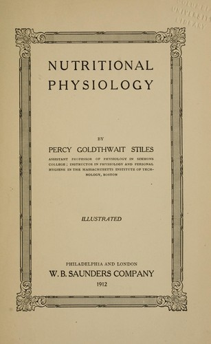 Nutritional physiology