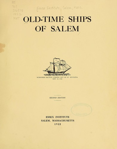 Download Old-time ships of Salem …