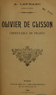 Olivier de Clisson, connétable de France by Auguste Lefranc