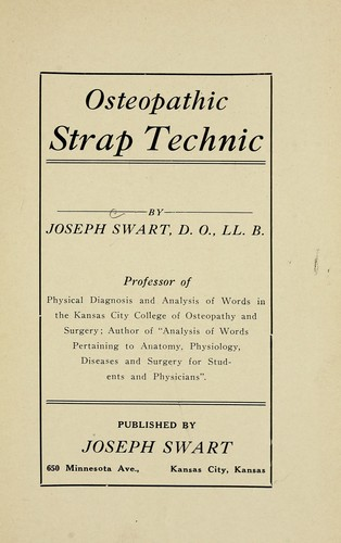 Download Osteopathic strap technic