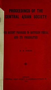 Our recent progress in Southern Persia, and its possibilities PDF