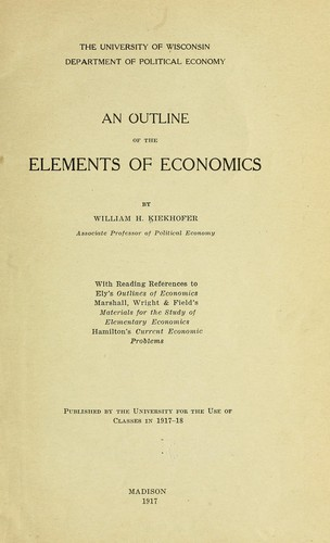 An outline of the elements of economics