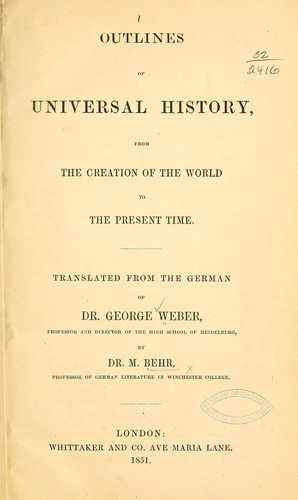 Download Outlines of universal history