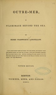 Cover of: Outre-mer by Henry Wadsworth Longfellow