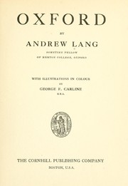 Cover of: Oxford by Andrew Lang