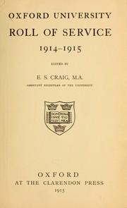 Oxford university roll of service, 1914-1915 PDF