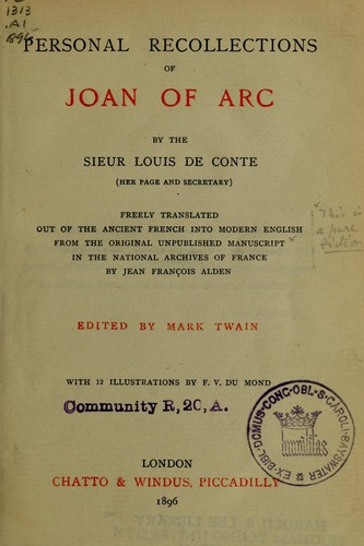 Download Personal recollections of Joan of Arc