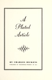 A plated article by Charles Dickens