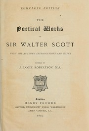 Poetical works by Sir Walter Scott