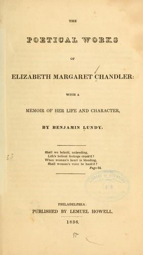 The poetical works of Elizabeth Margaret Chandler