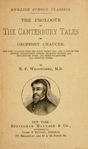The Prologue to the Canterbury tales of Geoffrey Chaucer