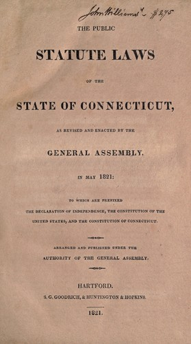 Download The public statute laws of the state of Connecticut