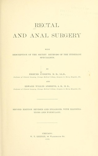 Download Rectal and anal surgery