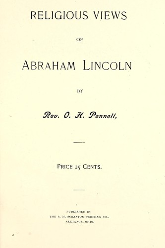 Download Religious views of Abraham Lincoln.