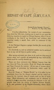 Report of Capt. Almy, U. S. N. [to the secretary of the navy, in regard to Chiriqui Lagoon.] PDF