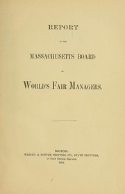Report of the Massachusetts Board of World's Fair Managers PDF