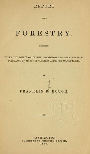Report upon forestry.