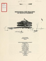 Restoring the beaches of Boston harbor PDF
