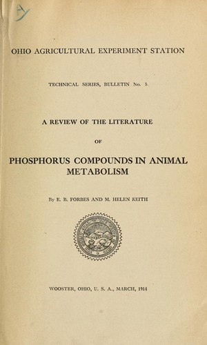 Download A review of the literature of phosphorus compounds in animal metabolism
