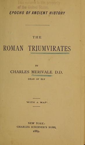 The Roman triumvirates