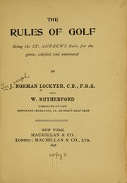 The rules of golf PDF