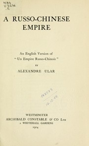A Russo-Chinese empire PDF