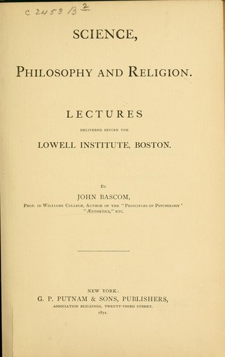 Download Science, philosophy and religion.