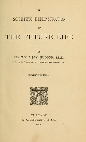 Download A scientific demonstration of the future life