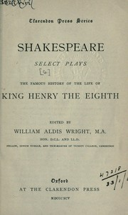 Cover of: Select plays by William Shakespeare
