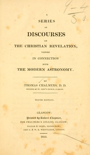 Download A series of discourses on the Christian revelation viewed in connection with the modern astronomy