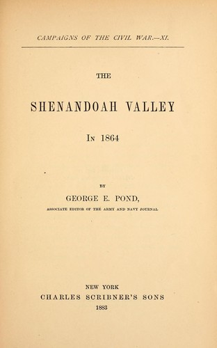 Download The Shenandoah Valley in 1864